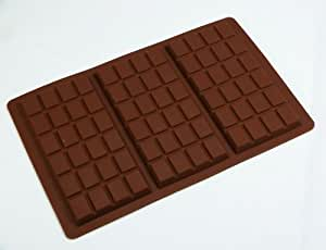 form aus silikon f r schokolade 3 gro e schokoladentafeln 95 g k che haushalt. Black Bedroom Furniture Sets. Home Design Ideas