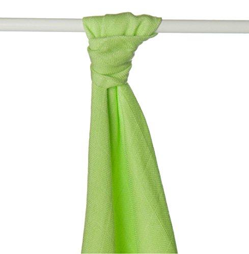 XKKO bmb09 lo-0001 a Couche Serviettes à langer Bambou, allaiter, comme tapis ou couverture légère, couches 90 x 100 cm, VERT