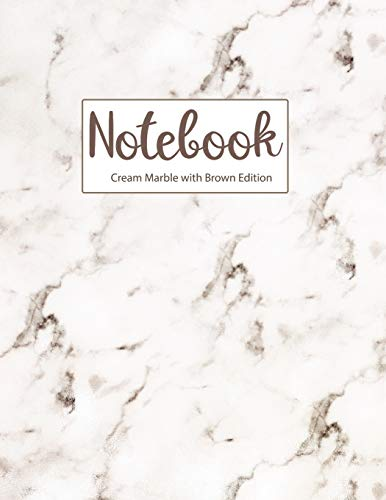 Notebook Cream Marble with Brown Edition