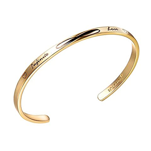 SOLOCUTE Bracelet Femme Or Gravé