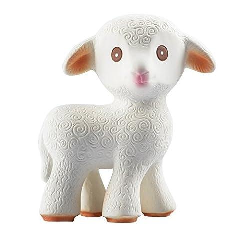 Mia la Agneau - un jouet de dentition en caoutchouc 100% naturel - Fermé hermétiquement - sans BPA, sans PVC, sans Nitrosamines