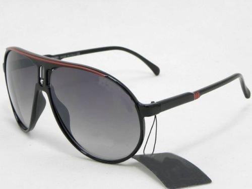 Gafas de sol estilo carrera, categoría 3UV400,con bolsa y gamuza, color negro y rojo
