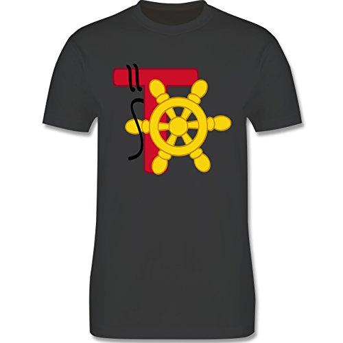 Anfangsbuchstaben - T Schifffahrt - Herren Premium T-Shirt Dunkelgrau