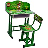 KRIS TOY Ben 10 Printed Kid's Wooden Study Table and Chair (3-10 Years, Multicolour)