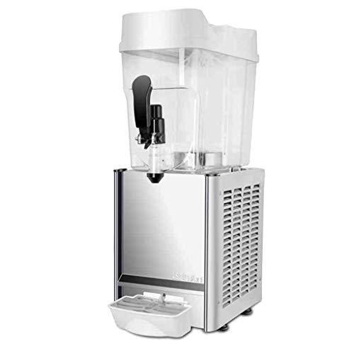 JCOCO Gewerbliche Getränkemaschine - Heiß und kalt - Dual Use - LED-Lichteffekt - Automatische Reinigungsfunktion - Edelstahl Margarita Cold Drink Machine - 18L