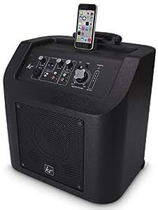 KitSound Kingston Bluetooth PA Lautsprechersystem Wiederaufladbar Tragbar Drahtlos mit von Apple Zertifizierter Lightning Dockingstation für iPhone 5/5S/5C/SE/6/6 Plus/6S/6S Plus, iPad 4. Generation/Air/Mini/Pro, iPod Nano 7. Generation und iPod Touch 5. Generation, mit UK Netzstecker - Schwarz