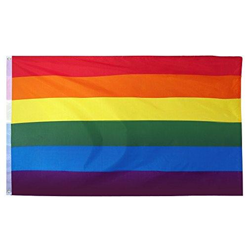 Trixes große Indoor Outdoor LGBT Regenbogen Fahne Gay Pride Festival Vielfalt Feiern 150 cm x 90 cm - Outdoor-flagge