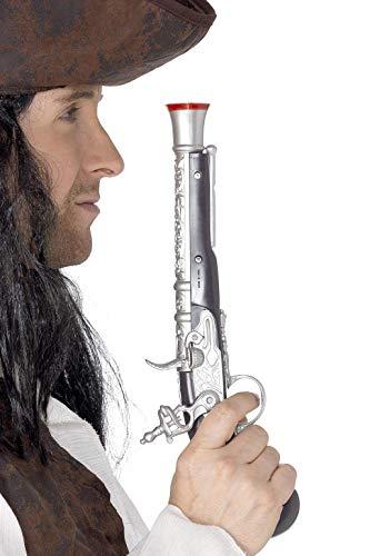 SMIFFYS Smiffy's Pistola da Pirata 30cm / 12in, Realistico Custodia Protettiva per MacBook 1, Colore Argento, Taglia Unica 5296