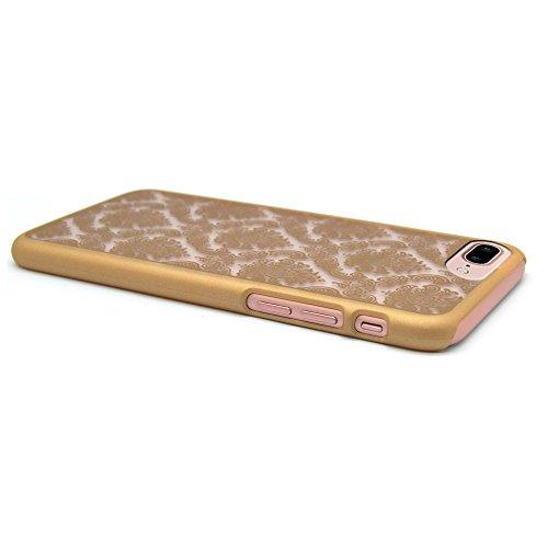 iProtect Apple iPhone 7 Plus, iPhone 8 Plus Hülle Farbverlauf Hard Case Schutzhülle orange HardcaseGold