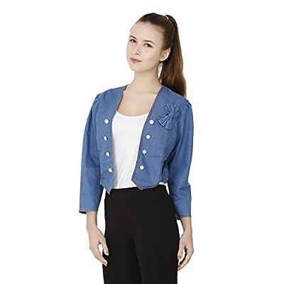 BuyNewTrend Denim Designer Jacket For Women/Girls