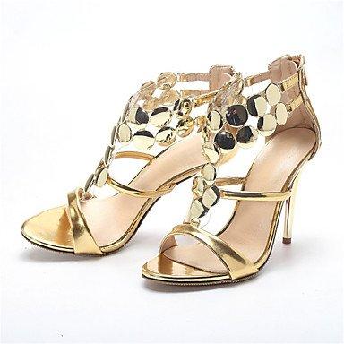LvYuan Sandalen-Hochzeit Kleid Party & Festivität-Lackleder-Stöckelabsatz-Neuheit Club-Schuhe-Rot Silber Gold Silver