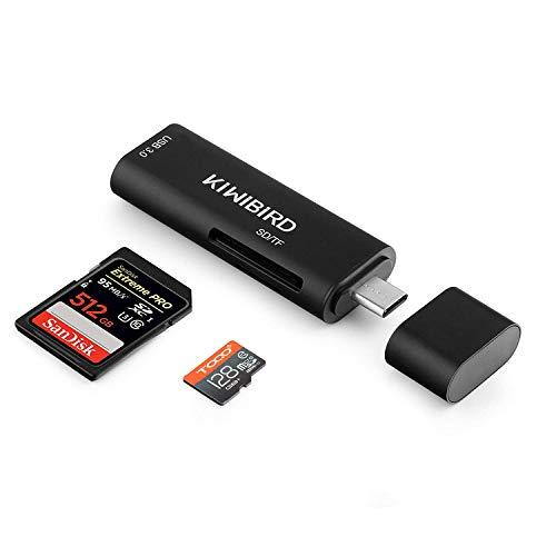 KiWiBiRD USB-C SD/Micro SD/TF Kartenleser, Typ-C zu USB 3.0 Adapter HUB Kompatibel mit MacBook, MacBook Pro, Galaxy S8/S9/Tab S3/Tab S4, Pixelbook, Pixel 2/3, Huawei P20/Mate 20, mehr USB C Geräte