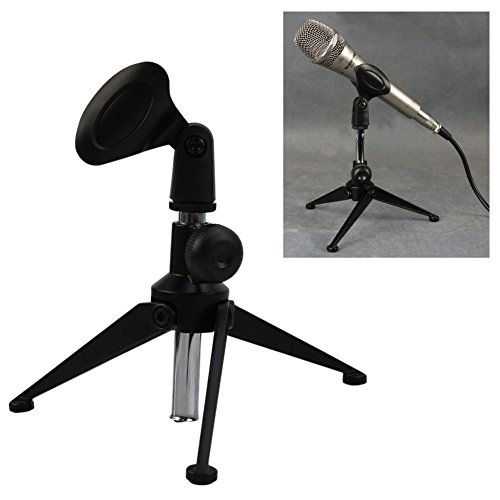 VvXx Adjustable Desktop Microphone Holder Stand Fits For Shure SM58/SM57/Beta58 New (Boom Stand Mini-mikrofon)
