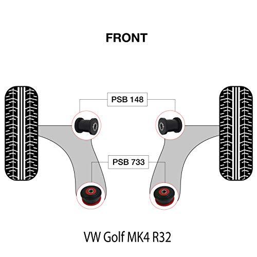 PSB Bush Golf MK4 R32 Kit de baguettes avant et arrière en polyuréthane pour PSB 1997-2004 (PSB148/733)