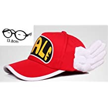 Set of 2 adult version cosplay and glasses. Slump Arale-style red hat Dr (japan import)
