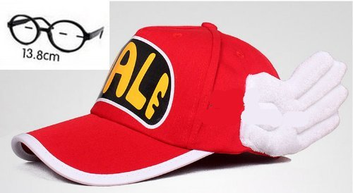 Set of 2 adult version cosplay and glasses. Slump Arale-style red hat Dr (japan import) (Kostüm Cosplay Arale)
