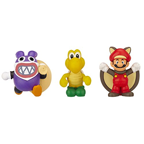 Mario Bros - World of Nintendo Micro Land 3 figura pack: Flying Squirrel Mario, Koopa Troopa & Nabbit (Jakks Pacific JAKKNIN016FSMKTN)