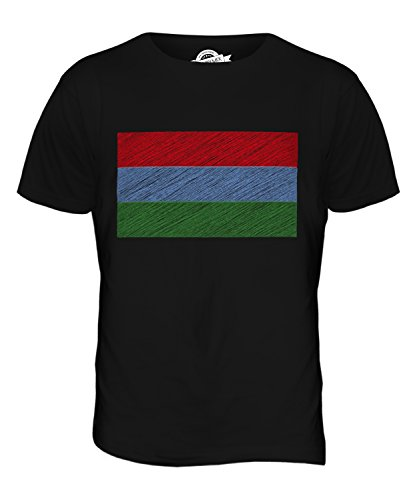CandyMix Karelien Kritzelte Flagge Herren T Shirt Schwarz