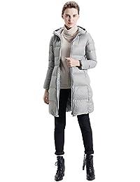Queenshiny Women's Long Editordown duck Down Coat Jacket Outwear parka down coat black uk size 8--16 hooded