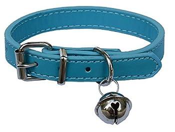 Fashion Pet colliers en cuir pour chiens, chiots pour bébé, chats, réglable 20,3cm -10.5
