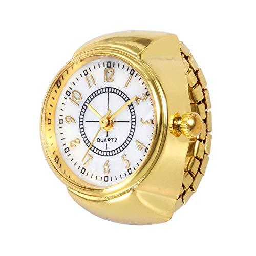 Retro Liebhaber Ringuhr Kaiki Unisex Uhren Creative Armbanduhr (Gold,EIN Größe)