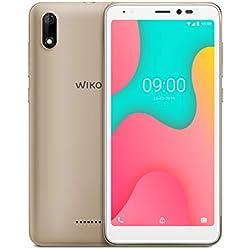 Wiko Y60 Smartphone débloqué 4G (Ecran 5, 45 Pouces - 16 Go - Micro-SIM/Nano-SIM + Emplacement Micro SD pour mémoire Extensible jusqu'à 128Go) Gold