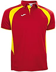 Joma Spain 2017/18 Players Rugby Polo Shirt - Red/Yellow