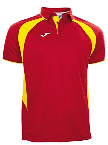 Joma Champion lll Polo Kurzarm Trikotshirt rot-gelb rot-gelb, M (Joma Fußball)