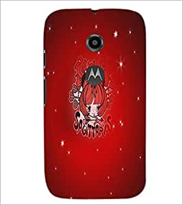 PrintDhaba Zodiac Sagittarius D-5511 Back Case Cover for MOTOROLA MOTO E2 (Multi-Coloured)