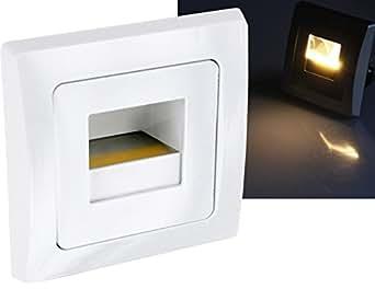led cob wandeinbauleuchte 230v warmwei passend in 60er schalterdosen 1 5w 110lm. Black Bedroom Furniture Sets. Home Design Ideas