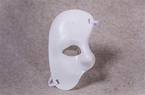 Maskerade,Venedig Make-up Tanz Party Männer Maske goldene einäugig halb Gesicht Maske Kunststoff cos weiß Masquerade