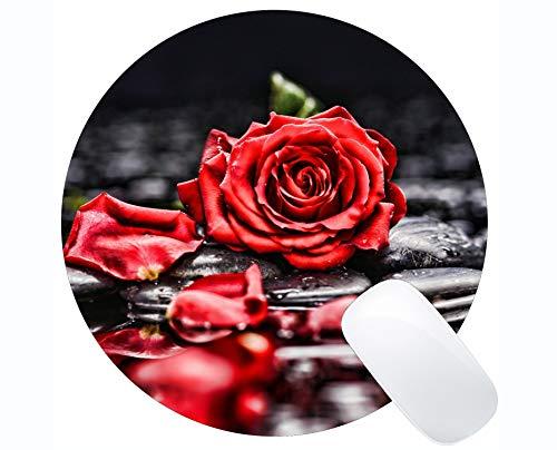 te Rose Natur Rose Stein Blume - genähte Kanten ()