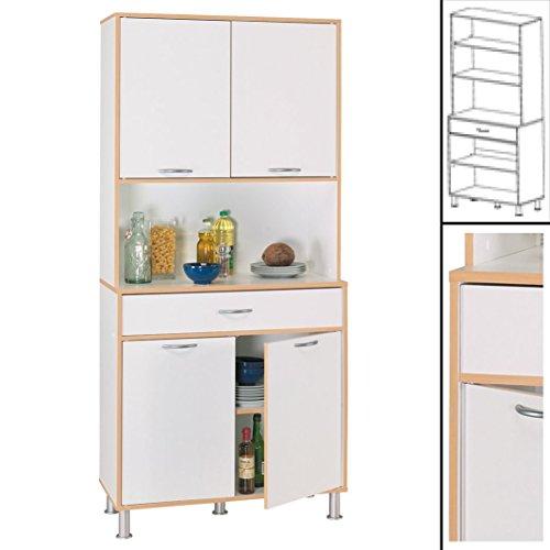 habeig Hochschrank COOKY 4047 Küchenschrank Küchenregal Schrank Küchentrolley Küche Neu