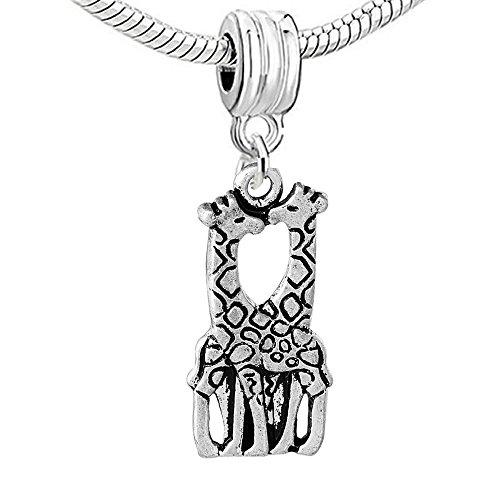 Sexy Sparkles Damen Giraffe in Love Charm Bead für Schlange Kette Armband