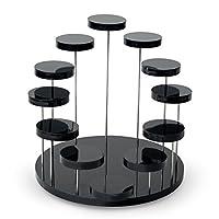 Hrph Jewelry Organizer Jewelry Display Stand Clear 3 Tray Acrylic Earring Bracelet Necklace Display Stand Shelf