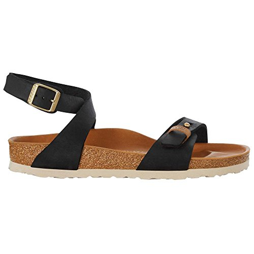 BIRKENSTOCK DELHI URBAN OILED LEATHER scarpe sandali ciabatte pelle BLACK