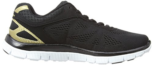 Skechers Flex Appeal Love Your Style, Chaussons Sneaker Femme Noir (Bkgd)