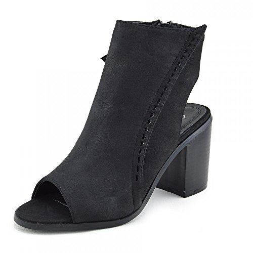 Kick-Scarpe da donna, schiena scoperta sbandato Stivaletti alla caviglia (Black-Open Toe)
