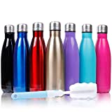 17oz Insulated Stainless Steel Water Bottle Double Wall Vacuum Bottle Cup Leak Proof