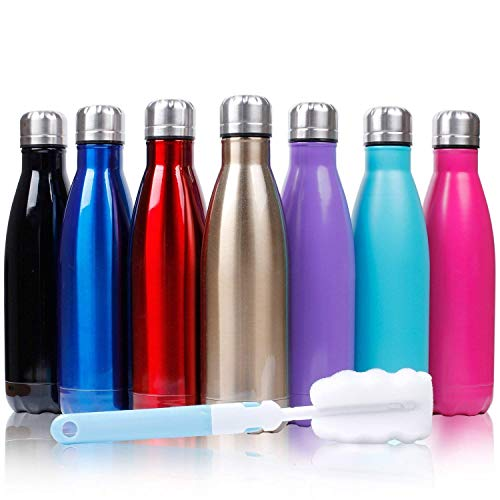 500ml doppia parete in acciaio inox coibentato bottiglia di acqua, mantiene il vostro bevanda calda & fredda perfetto per campeggio di sport esterni escursionismo escursioni in bicicletta+ lavatrice