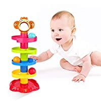 5 Layer Ball Drop and Roll Swirling Tower Shape Sorter for Baby and Toddler Educational Toys   Stack, Drop and Go Ball Ramp Toy Set Gift Choice Activity centre for 1-3 Years