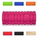 KG Physio schuimrubberen roller voor spiermassage van het diepe weefsel, om herstel en prestaties te verbeteren, rasterroller-design, 33 x 12,7 cm, ideaal voor yoga, pilates, triggerpoint-therapie, pijnverlichting, ITB