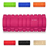 "Foam roller KG | PHYSIO Trigger Point Massage Roller For Muscle Massage Grid Roller Design! - 13""x5"" - Ideal for Yoga, Pilates, Myofascial Release, Muscle Pain relief, IT Band, Trigger Point Massage, Stiffness Relief (Pink)"