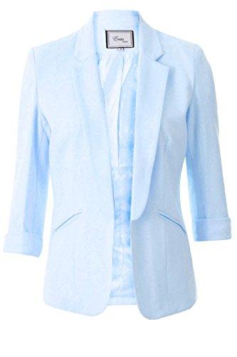 Damen Berühmtheit spornte intelligente Modische, taillierte Taylor Blazer EU-Größe 36-44 Pulverblau