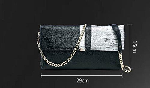 Home Monopoly Borsa a busta borsa femmina frizione grande capacità borse selvaggia di moda / con cinghia di spalla ( Colore : #A ) #C