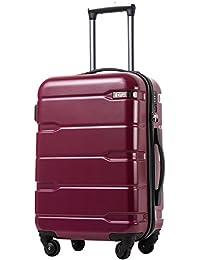 COOLIFE Maleta de Viaje con Maleta Equipaje expandible (Solo Maleta Grande expandible) PC + ABS Juego de 3 Piezas con candado…