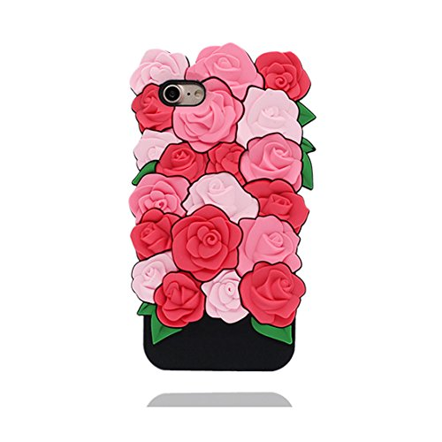 iPhone 6S Plus Custodia, Fashion TPU morbido Cover Shell per iPhone 6 Plus Copertura / 3D Rosa Stylish / iPhone 6 Plus / 6s Plus Case 5.5 Anti shock Durable & ring supporto COLOR 1