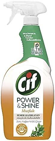 Cif Power & Shine Sprey Temizleyici Mutfak Yağ Çözücü 750 ML 1
