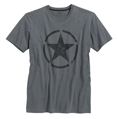 Preisvergleich Produktbild Alpha Industries Herren Oberteile/T-Shirt Star Grau M