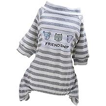 MagiDeal Pijama de Perros Gatos Ropa de Animal Doméstico Mono de Algodón de Mascotas para Fiesta de Disfraz Accesorio de Dormir en Cama - METRO